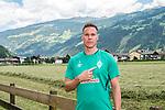 05.07.2019, DasPosthotel, Zell am Ziller, AUT, TL Werder Bremen Zell am Ziller / Zillertal Tag 01<br /> <br /> im Bild<br /> Niklas Moisander (Werder Bremen #18) während MixedZone, <br /> <br /> Foto © nordphoto / Ewert