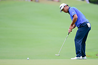 Hideki Matsuyama (JPN) barely misses his putt on 13 during round 3 of the World Golf Championships, Dell Technologies Match Play, Austin Country Club, Austin, Texas, USA. 3/24/2017.<br /> Picture: Golffile | Ken Murray<br /> <br /> <br /> All photo usage must carry mandatory copyright credit (&copy; Golffile | Ken Murray)