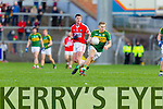 Peter Crowley Kerry in action against Fintan Goold Cork in the National Football League at Pairc Ui Rinn, Cork on Sunday.