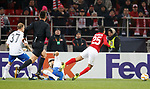08.11.18 Spartak Moscow v Rangers: Lorenzo Melgarejo trying for a penalty kick