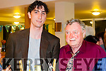 Podge Moriarty & his son Jacob Moriarty Stone at the occasion of his 70th birthday party held at the Killarney Racecourse on Saturday night.