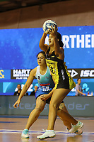 Aliyah Dunn in action during the ANZ Championship netball match between Northern Mystics and Central Pulse at the Auckland Netball Centre in Auckland, New Zealand on Saturday 18 July 2020. Photo: Simon Watts / bwmedia.co.nz