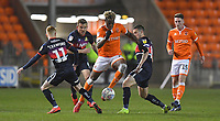 Blackpool's Armand Gnanduillet goes past the Doncaster Rovers midfield<br /> <br /> Photographer Dave Howarth/CameraSport<br /> <br /> The EFL Sky Bet League One - Blackpool v Doncaster Rovers - Tuesday 12th March 2019 - Bloomfield Road - Blackpool<br /> <br /> World Copyright © 2019 CameraSport. All rights reserved. 43 Linden Ave. Countesthorpe. Leicester. England. LE8 5PG - Tel: +44 (0) 116 277 4147 - admin@camerasport.com - www.camerasport.com