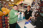 Official opening of new Dealz store in Enniscorthy. Second customer Conor Foley-O'Rourke was served by sales assistant Anne Kehoe. Photo: John Walsh/@Newsfile