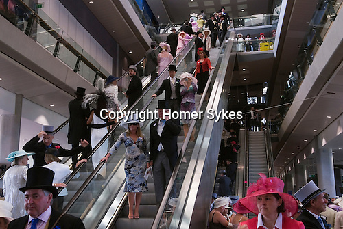 Interior of the new grandstand. Horse racing at Royal Ascot, Berkshire, England. 2006.