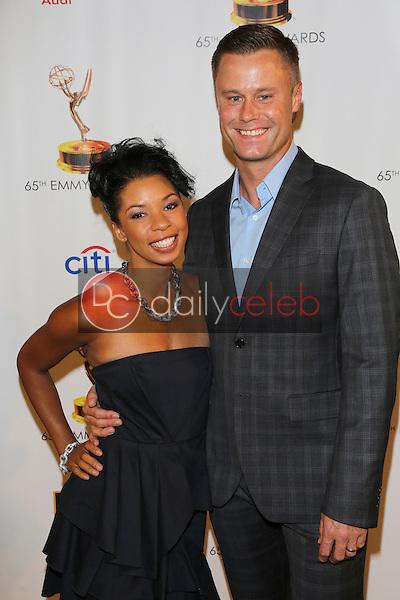 Angel Parker, Eric Nenninger<br /> at the 65th Emmy Awards Nominee Celebration, Leonard H. Goldenson Theater, North Hollywood, CA 09-17-13<br /> David Edwards/Dailyceleb.com 818-249-4998