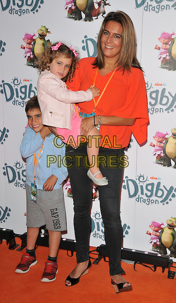 Samantha Simmonds &amp; her kids at the &quot;Digby Dragon&quot; world film premiere, The Conservatory, Barbican Centre, Silk Street, London, England, UK, on Saturday 02 July 2016.<br /> CAP/CAN<br /> &copy;CAN/Capital Pictures