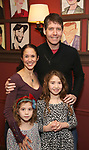 James Barbour with wife and daughters attend James Barbour's Top Secret portrait unveiling at Sardi's on March 10, 2017 in New York City.