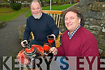 Potter Louis Mulcahy and Gary Marcham, furniture maker promoting Original Kerry's online shop which will sell a range of handmade crafts produced in Kerry.