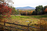 View of Mt. Monadnock during Fall Season in Chesham, New Hampshire USA