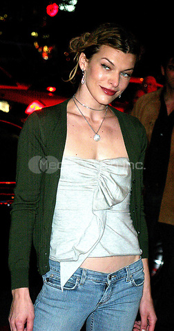 """MILLA JOVOVICH 09/09/2003<br /> THE NEW YORK PREMIERE OF<br /> """"DUMMY"""". SONY LINCOLN SQUARE, NYC<br /> Photo By John Barrett/PHOTOlink.net /MediaPunch"""