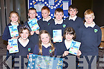 Shrone NS pupils published a book Sea The Facts as their project at the Junior Entrepreneur awards in the Malton Hotel on Wednesday front row l-r: Sophie Nagle, Michelle Cronin, Niamh McSherry. Back row: Orla Cremin, Kieran Fitzgerald, Donnagh fitzgerald, Michael Twomey, Liam McSherry, Niall Lenihan