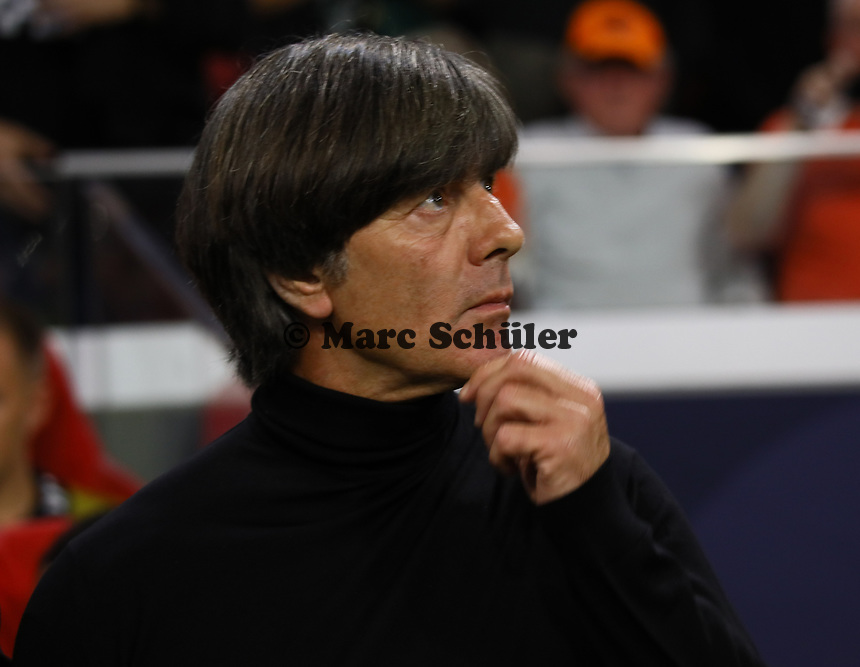 Bundestrainer Joachim Loew (Deutschland Germany)  - 13.10.2018: Niederlande vs. Deutschland, 3. Spieltag UEFA Nations League, Johann Cruijff Arena Amsterdam, DISCLAIMER: DFB regulations prohibit any use of photographs as image sequences and/or quasi-video.