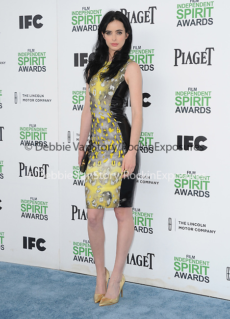 Krysten Ritter attends The 2014 Film Independent Spirit Awards held at Santa Monica Beach in Santa Monica, California on March 01,2014                                                                               © 2014 Hollywood Press Agency