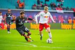 07.10.2018, Red Bull Arena, Leipzig, GER, 1. FBL 2018/2019, RB Leipzig vs. 1. FC N&uuml;rnberg/Nuernberg,<br /> <br /> DFL REGULATIONS PROHIBIT ANY USE OF PHOTOGRAPHS AS IMAGE SEQUENCES AND/OR QUASI-VIDEO.<br /> <br /> im Bild<br /> <br /> <br /> Emil Forsberg (#10, RB Leipzig), Enrico Valentini (#28, 1. FC Nuernberg), <br /> <br /> Foto &copy; nordphoto / Dostmann
