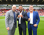 Kell Brook (c) with his dad Terry (r} and Dominic Ingle (l) during the League One match at Bramall Lane Stadium, Sheffield. Picture date: September 17th, 2016. Pic Simon Bellis/Sportimage