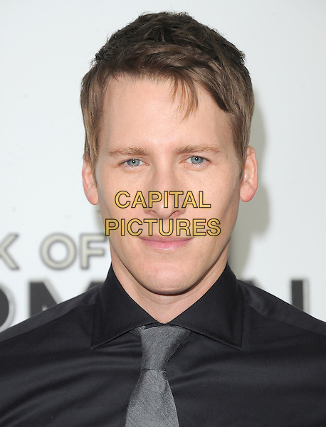 "Dustin Lance Black.""The Book of Mormon"" Hollywood Opening night Held At The Pantages theatre, Hollywood, California, USA..September 12th, 2012.headshot portrait black grey gray tie.CAP/DVS.©DVS/Capital Pictures."