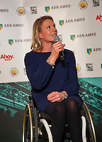 Rotterdam, Netherlands, Januari 06, 2016,  Press conference ABNAMROWTT, Wheelchair Tournament Director Esther Vergeer<br /> Photo: Tennisimages/Henk Koster