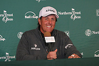 02/15/12 Pacific Palisades, CA:  Phil Mickelson during a press conference before the start of the pro-am at the Northern Trust Open held at the Riviera Country Club