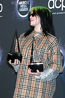 LOS ANGELES - NOV 24:  Billie Eilish at the 47th American Music Awards - Press Room at Microsoft Theater on November 24, 2019 in Los Angeles, CA