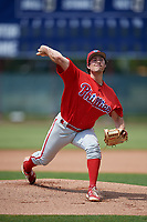 Philadelphia Phillies pitcher Tommy Bergjans (39) during a Minor League Extended Spring Training game against the Atlanta Braves on April 20, 2018 at Carpenter Complex in Clearwater, Florida.  (Mike Janes/Four Seam Images)