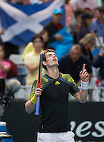Andy Murray..Tennis - Australian Open - Grand Slam -  Melbourne Park  2013 -  Melbourne - Australia - Monday 21st January  2013. .© AMN Images, 30, Cleveland Street, London, W1T 4JD.Tel - +44 20 7907 6387.mfrey@advantagemedianet.com.www.amnimages.photoshelter.com.www.advantagemedianet.com.www.tennishead.net