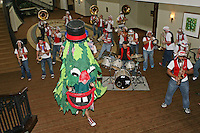 SACRAMENTO, CA - MARCH 29: The Stanford Tree and the Stanford Band during Stanford's 55-53 win over Xavier in the NCAA Women's Basketball Championship Elite Eight on March 29, 2010 at Arco Arena in Sacramento, California.