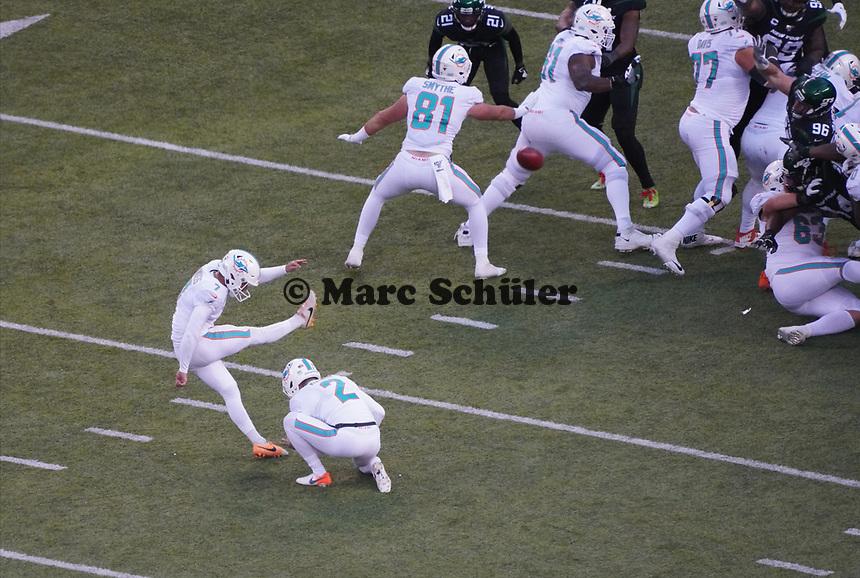 Siebtes Field Goal für K Jason Sanders (Miami Dolphins) - 08.12.2019: New York Jets vs. Miami Dolphins, MetLife Stadium New York