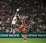USA VS Portugal during    HSBC Hong Kong Rugby Sevens 2016on 08 April 2016 at Hong Kong Stadium in Hong Kong, China. Photo by Li Man Yuen / Power Sport Images