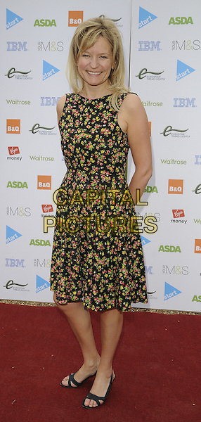 "JASMINE  BIRTLES.""Launch of The Start Sustainable Pop-Up Restaurant with Think Eat Drink"",  .Lancaster House, Stable Yard, London, UK..July 26th, 2011.full length black pink yellow sleeveless floral print dress.CAP/CAN.©Can Nguyen/Capital Pictures."