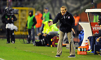 Juergen Klinsmann, coach of team USA, reacts during the friendly match Belgium against USA at King Baudoin stadium in Brussel, Belgium on September 06th, 2011.