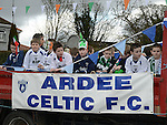 Ardee Celtic taking part in the Ardee St Patrick's day parade. Photo:Colin Bell/pressphotos.ie