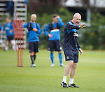 Mark Warburton stops training to issue instructions on tactics