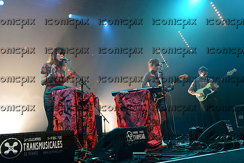 MELODY'S ECHO CHAMBER - vocalist Melody Prochet - performing live at Les Trans Musicales Festival in Rennes France - 08 Dec 2012.  Photo credit: De Banes/Dalle/IconicPix