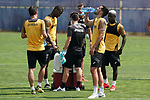 Getafe's Nemanja Maksimovic, Florent Poulolo, Chema Rodriguez and Amath Ndiaye during training session. May 25,2020.(ALTERPHOTOS/Acero)