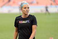 Houston, TX - Wednesday June 28, 2017: Rachel Daly warming up during a regular season National Women's Soccer League (NWSL) match between the Houston Dash and the Boston Breakers at BBVA Compass Stadium.