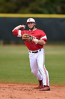 Indiana Hoosiers Casey Rodrigue (9) during practice before a game against the St. Joseph's Hawks on March 7, 2015 at North Charlotte Regional Park in Port Charlotte, Florida.  Indiana defeated St. Joseph's 3-2.  (Mike Janes/Four Seam Images)