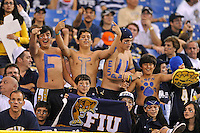 20 December 2011:  FIU fans show their support prior to the game.  The Marshall University Thundering Herd defeated the FIU Golden Panthers, 20-10, to win the Beef 'O'Brady's St. Petersburg Bowl at Tropicana Field in St. Petersburg, Florida.
