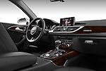 Passenger side dashboard view of a 2013 Audi A6 Allroad Quattro Wagon.