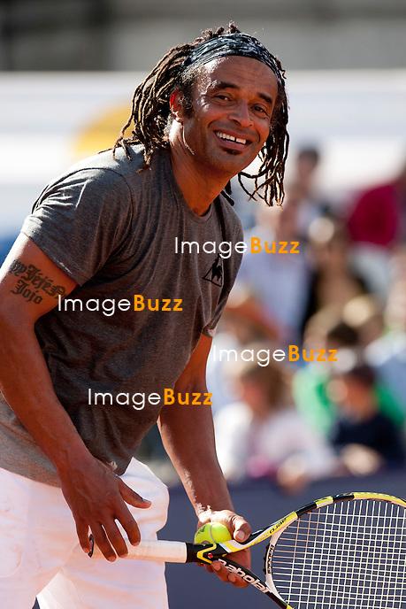 """Yannick Noah - Sixième Edition de la """" Legends Cup """", à Namur en Belgique..Belgique, Namur, 15/16 juin 2012.."""