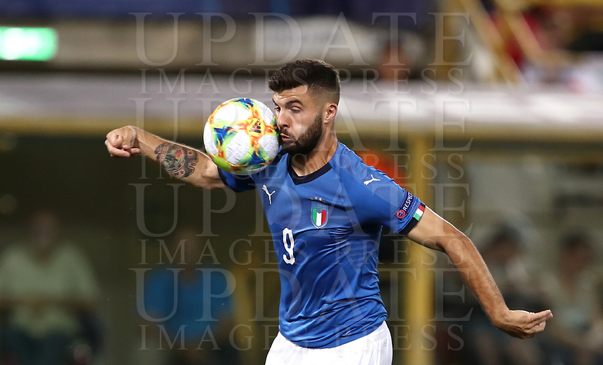 Football: Uefa European under 21 Championship 2019, Italy - Spain Renato Dall'Ara stadium Bologna Italy on June16, 2019.<br /> Italy's Patrick Cutrone in action during the Uefa European under 21 Championship 2019 football match between Italy and Spain at Renato Dall'Ara stadium in Bologna, Italy on June16, 2019.<br /> UPDATE IMAGES PRESS/Isabella Bonotto