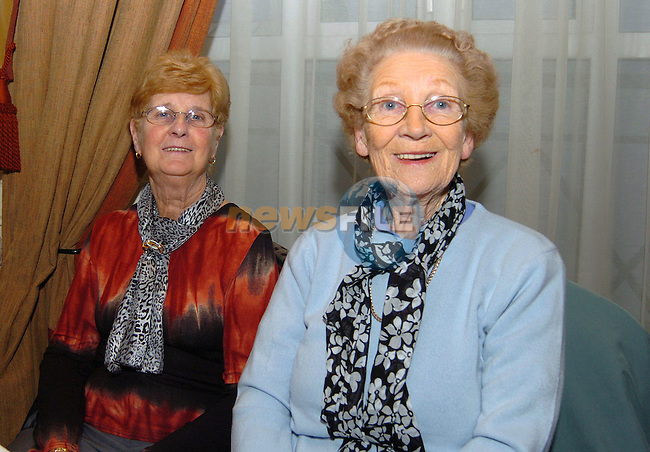 Eileen Byrne and Mary Boyle at the active retirment dance in the Westcourt hotel. Photo: Colin Bell / Newsfile