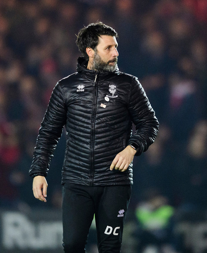 Lincoln City manager Danny Cowley<br /> <br /> Photographer Chris Vaughan/CameraSport<br /> <br /> The EFL Sky Bet League Two - Lincoln City v Exeter City - Tuesday 26th February 2019 - Sincil Bank - Lincoln<br /> <br /> World Copyright © 2019 CameraSport. All rights reserved. 43 Linden Ave. Countesthorpe. Leicester. England. LE8 5PG - Tel: +44 (0) 116 277 4147 - admin@camerasport.com - www.camerasport.com