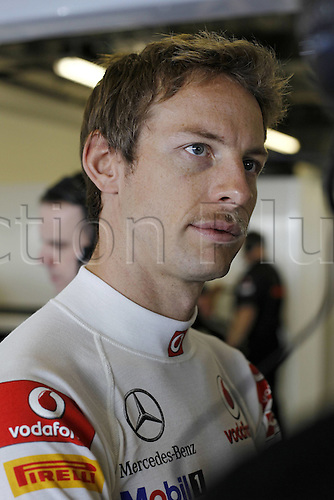 11.11.2011 Abu Dhabi, United Arab Emirates.  Grand Prix of Abu Dhabi 04 Jenson Button GBR Vodafone McLaren Mercedes, during the practice session at the FIA Abu Dhabi Grand Prix in the UAE.
