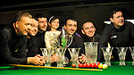 The Celbridge Snooker Club  team that won the Ladbrokes All Ireland Club Snooker Championship final at The Gleneagle Hotel, Killarney. From left are Nigel Power, TJ Dowling,   Colm Gilcrest, Captain, Ava Gilcrest, Martin McCrudden,  John Sutton and Joe Delaney. Picture: Eamonn Keogh (MacMonagle, Killarney)