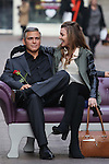 Pic shows: George Clooney waxwork in Carnaby street causes quite a stir ahead of Valentine's day tomorrow.......Pic by Gavin Rodgers/Pixel 8000 Ltd