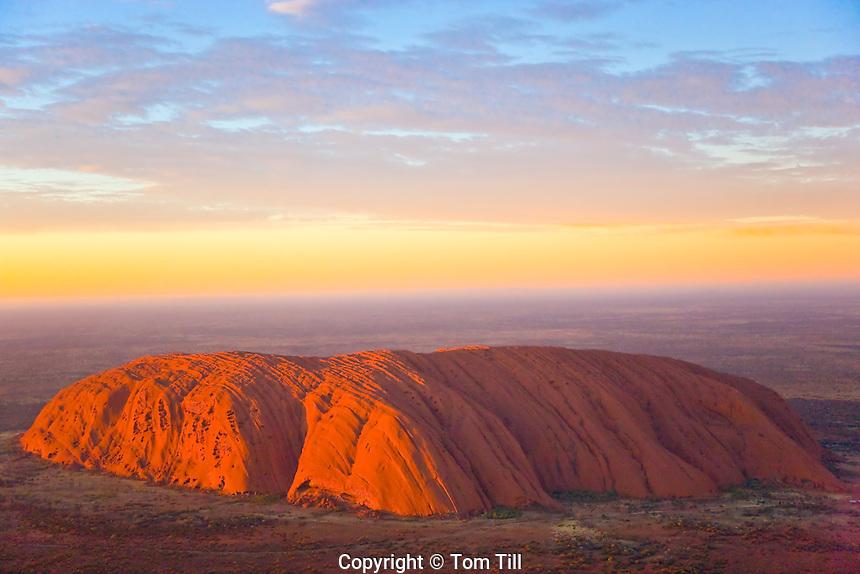 Ayers Rock (Uluru)   Uluru Kata Juta National Park, Australia        Red Centre of Northern Territory    Huge sandstone monolith in Austrlian desert