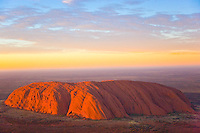 Ayers Rock (Uluru)   Uluru Kata Juta National Park, Australia        Red Centre of Northern Territory    Huge sandstone monolith in Austrlian desert