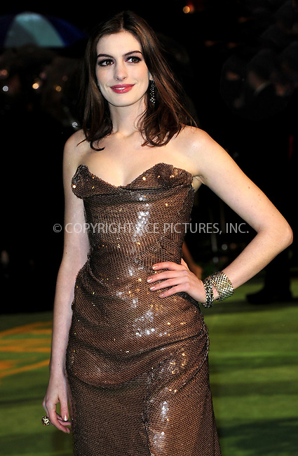"WWW.ACEPIXS.COM . . . . .  ..... . . . . US SALES ONLY . . . . .....February 25 2010, New York City....Anne Hathaway at the UK premiere of ""Alice in Wonderland"" on February 25 2010 in London......Please byline: FAMOUS-ACE PICTURES... . . . .  ....Ace Pictures, Inc:  ..tel: (212) 243 8787 or (646) 769 0430..e-mail: info@acepixs.com..web: http://www.acepixs.com"