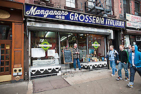 The Manganaro Grosseria Italiana on Ninth Avenue in the Hell's Kitchen neighborhood of New York is seen on Monday, February 28, 2011. The restaurant closed permanently after serving its last lunch on February 27, 2012. (© Richard B. Levine)